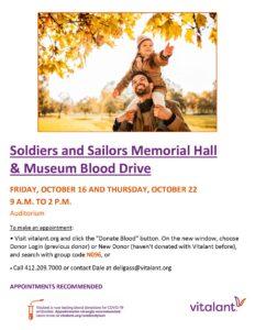 Vitalant Blood Drive @ Soldiers & Sailors